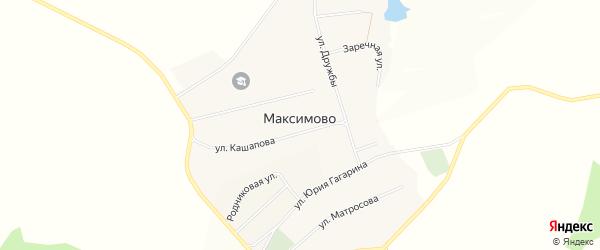 Карта села Максимово в Башкортостане с улицами и номерами домов