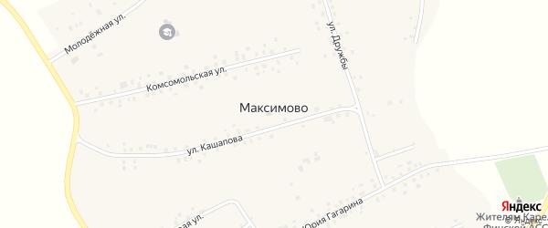 Родниковая улица на карте села Максимово Башкортостана с номерами домов