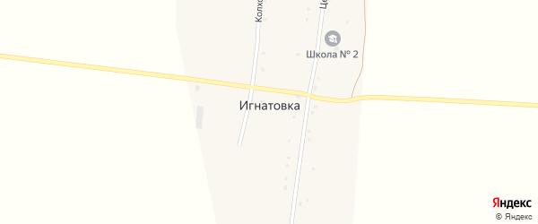 Железнодорожная улица на карте деревни Игнатовки с номерами домов