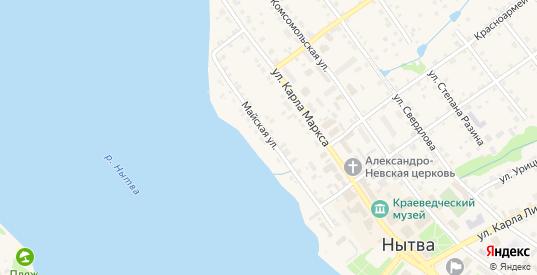 Майская улица в Нытве с номерами домов на карте. Спутник и схема онлайн