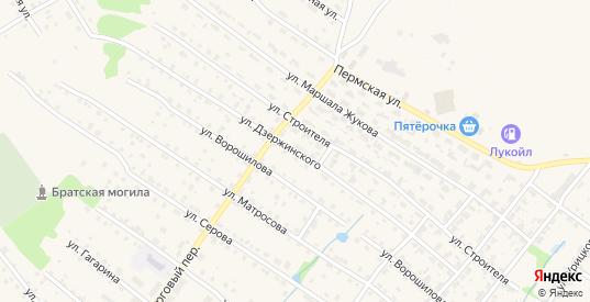 Улица Дзержинского в Нытве с номерами домов на карте. Спутник и схема онлайн