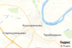 Карта с. Кушнаренково Республика Башкортостан