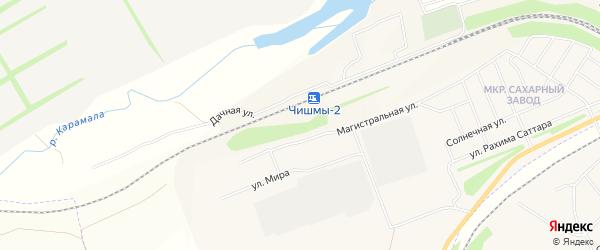 СНТ СНО Сахарник-1 на карте поселка Чишмы Башкортостана с номерами домов