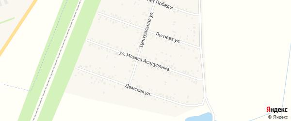 Улица Ильяса Асадуллина на карте села Чишм с номерами домов