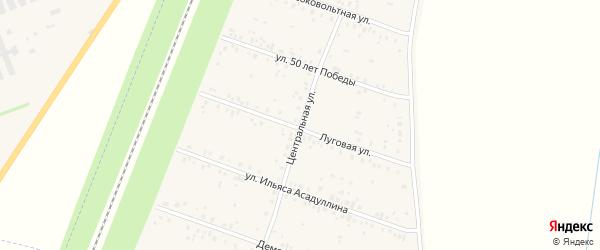 Центральная улица на карте села Чишм с номерами домов