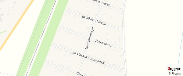Луговая улица на карте села Чишм с номерами домов