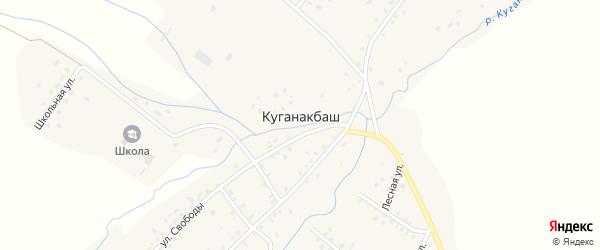 Лесная улица на карте села Куганакбаша с номерами домов