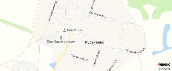 Садовая улица на карте села Кусекеево с номерами домов