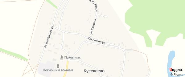 Ключевая улица на карте села Кусекеево с номерами домов
