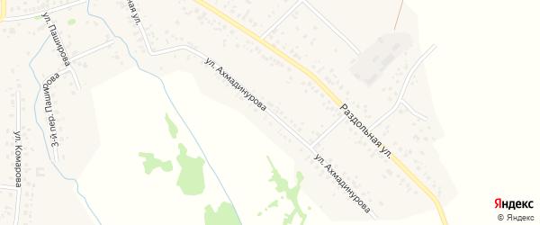 Улица Ахмадинурова на карте села Кушнаренково Башкортостана с номерами домов