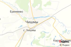 Карта пгт Чишмы Республика Башкортостан