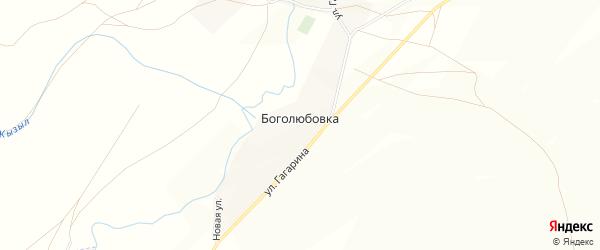 Карта деревни Боголюбовки в Башкортостане с улицами и номерами домов