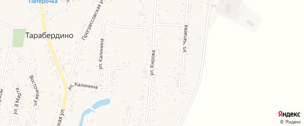 Улица Кирова на карте села Тарабердино Башкортостана с номерами домов