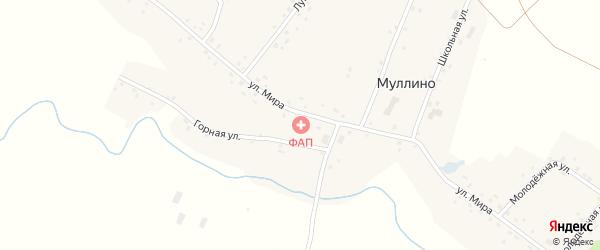 Горная улица на карте деревни Муллино с номерами домов