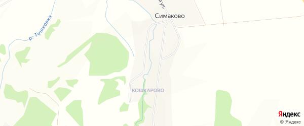 Карта деревни Симаково в Пермском крае с улицами и номерами домов
