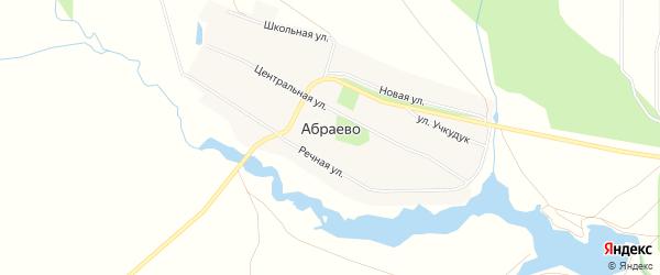 Карта деревни Абраево в Башкортостане с улицами и номерами домов