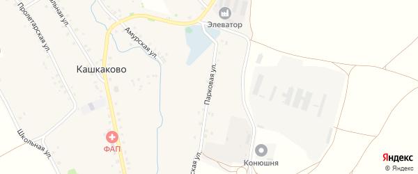 Парковая улица на карте деревни Кашкаково с номерами домов