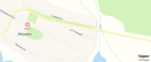 Улица Учкудук на карте деревни Абраево Башкортостана с номерами домов