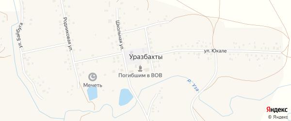 Садовая улица на карте села Уразбахтов Башкортостана с номерами домов