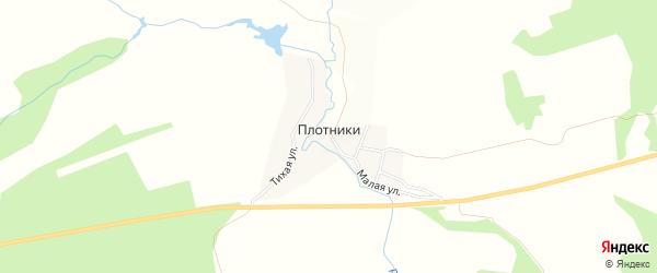 Карта деревни Плотники в Пермском крае с улицами и номерами домов