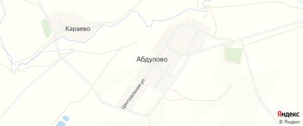 Карта села Абдулово в Башкортостане с улицами и номерами домов