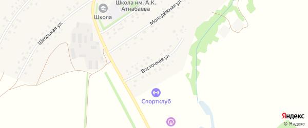 Восточная улица на карте села Старого Курдыма с номерами домов