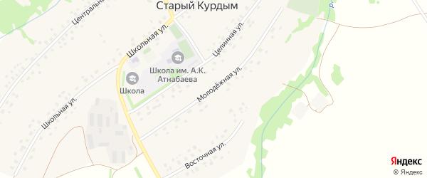 Молодежная улица на карте села Старого Курдыма с номерами домов