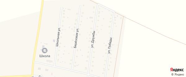 Улица Дружбы на карте села Октябрьского с номерами домов