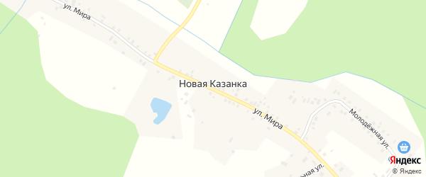 Молодежная улица на карте деревни Новой Казанки Пермского края с номерами домов