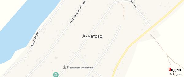 Мостовая улица на карте села Ахметово с номерами домов