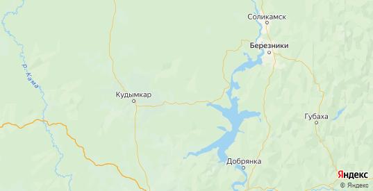 Карта Юсьвинского района Пермского края с городами и населенными пунктами