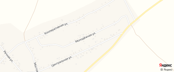 Молодёжная улица на карте села Ахметово с номерами домов