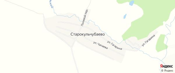 Карта деревни Старокульчубаево в Башкортостане с улицами и номерами домов