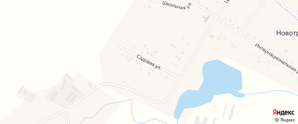 Садовая улица на карте Новотроицкого села Башкортостана с номерами домов