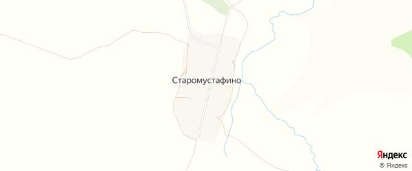 Карта деревни Старомустафино в Башкортостане с улицами и номерами домов