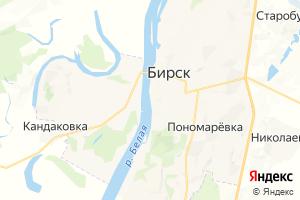 Карта г. Бирск Республика Башкортостан