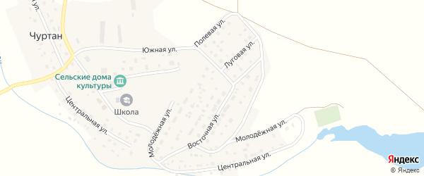 Луговая улица на карте деревни Чуртана с номерами домов
