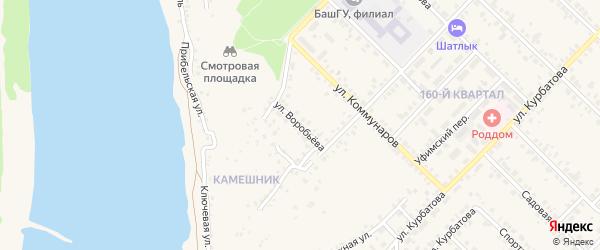 Улица Воробьева на карте Бирска с номерами домов