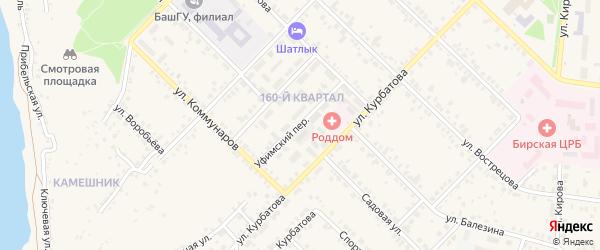 Уфимский переулок на карте Бирска с номерами домов