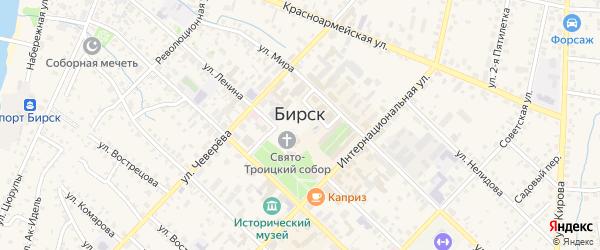 Микрорайон Теплосети на карте Бирска с номерами домов