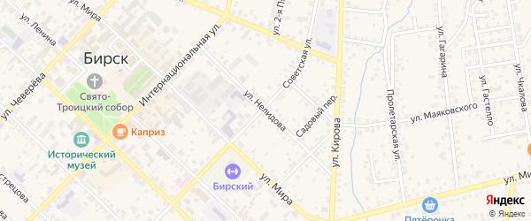 Улица Нелидова на карте Бирска с номерами домов
