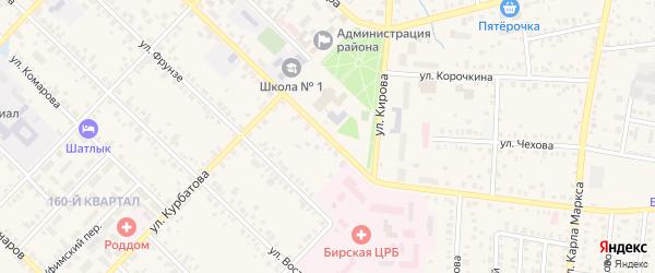 Коммунистическая улица на карте Бирска с номерами домов