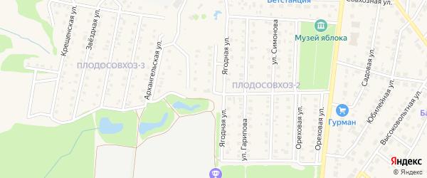 Ягодная улица на карте Бирска с номерами домов