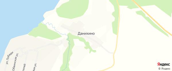 Карта деревни Данихино в Пермском крае с улицами и номерами домов