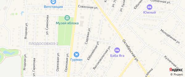 Российская улица на карте села Пономаревки с номерами домов