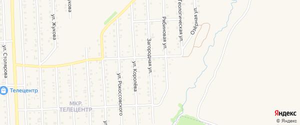 Загородная улица на карте села Пономаревки с номерами домов