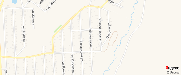 Рябиновая улица на карте села Пономаревки с номерами домов