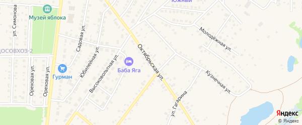 Октябрьская улица на карте села Пономаревки с номерами домов