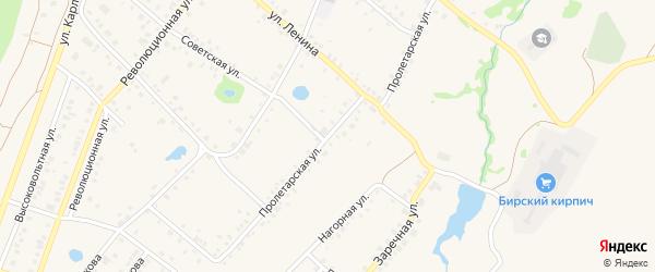Пролетарская улица на карте села Пономаревки с номерами домов
