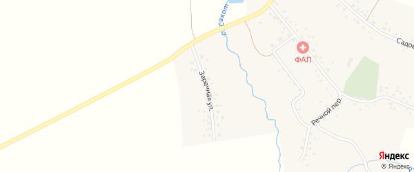 Заречная улица на карте села Бикеево с номерами домов